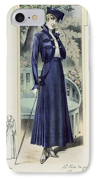 A Fashionable French Lady IPhone Case by French School