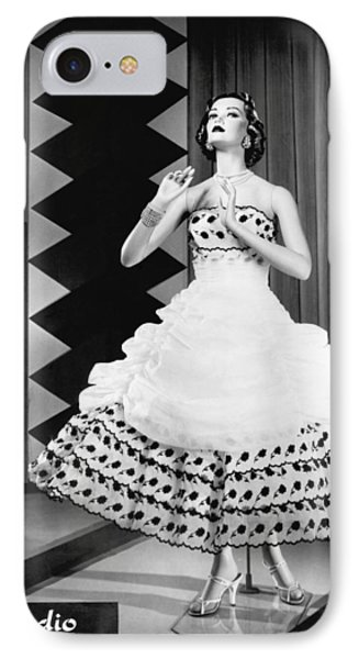 A Fashionable Mannequin And Her Unclothed Version In The Backgro IPhone Case by Underwood Archives