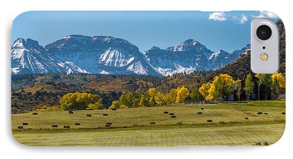 A Field Of Hay In Colorado IPhone Case