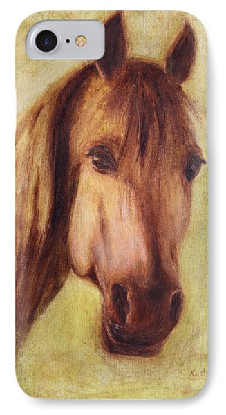 IPhone Case featuring the painting A Fine Horse by Xueling Zou