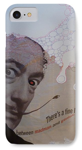 IPhone Case featuring the mixed media A Fine Line by Douglas Fromm