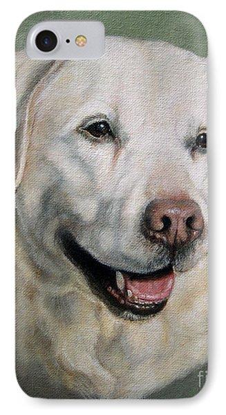 A Fine Old Lady Yellow Labrador Portrait IPhone Case