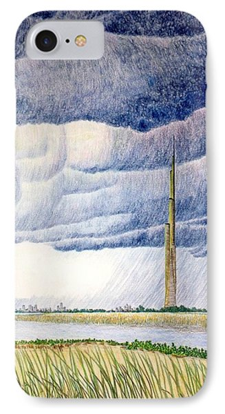 IPhone Case featuring the painting A Finger To The Sky by A  Robert Malcom