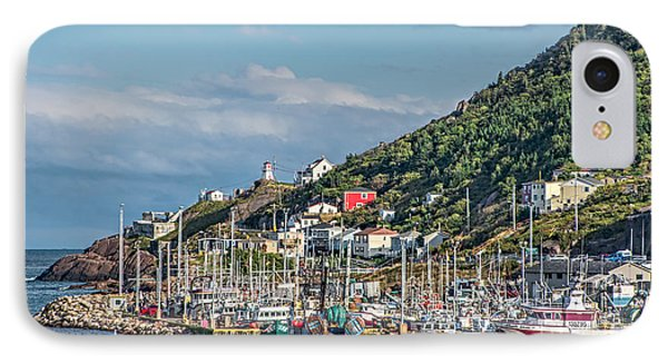 A Fishing Harbour In Newfoundland Canada IPhone Case by Gerda Grice