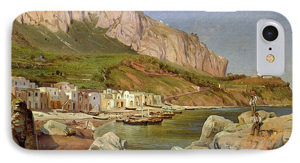 A Fishing Village At Capri Phone Case by Louis Gurlitt