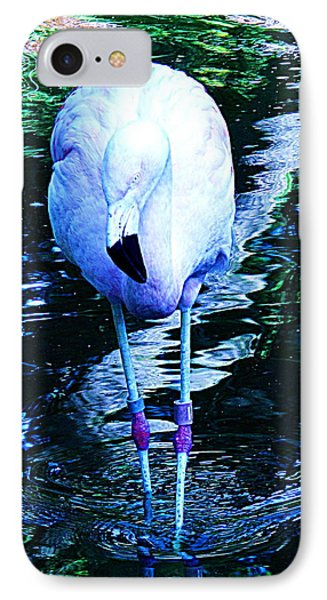 IPhone Case featuring the photograph A Flamingo On A Watery Stroll. by John King