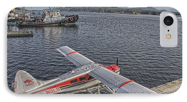 A Float Plane Sits At The Dock In Alaska IPhone Case by Timothy Latta