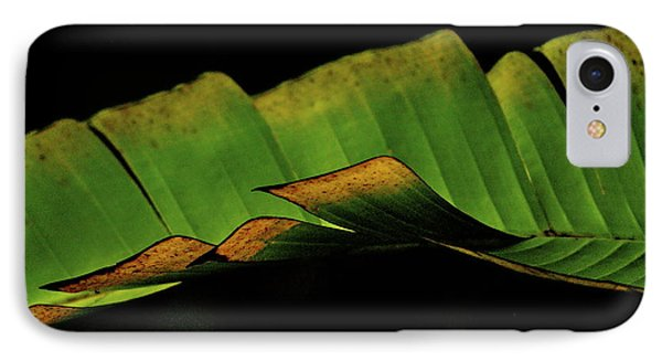 A Floating Heliconia Leaf IPhone Case by Lehua Pekelo-Stearns
