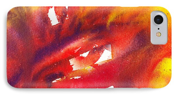 A Floral Flame Abstract IPhone Case by Irina Sztukowski
