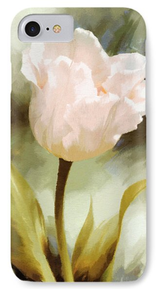 One Beautiful Flower Impressionism IPhone Case by Georgiana Romanovna