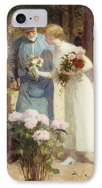 A Flower Market IPhone Case by Victor Gabriel Gilbert
