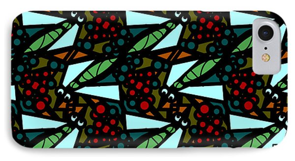 IPhone Case featuring the digital art A Fly Of Sorts And Berries by Elizabeth McTaggart