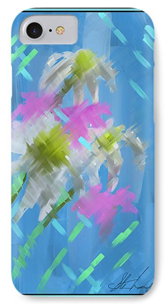 IPhone Case featuring the painting A Focus On Flowers by Steven Lebron Langston