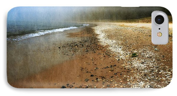 A Foggy Day At Pier Cove Beach 2.0 IPhone Case by Michelle Calkins