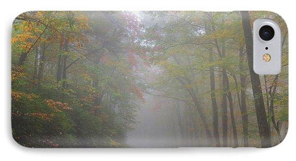 A Foggy Drive IPhone Case