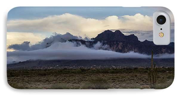 A Foggy Evening At The Superstitions IPhone Case