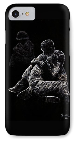 IPhone Case featuring the painting My Friend Killed In Korean War by Bob Johnston