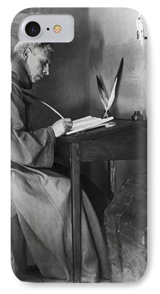 A Franciscan Padre Writing IPhone Case by Underwood Archives Onia