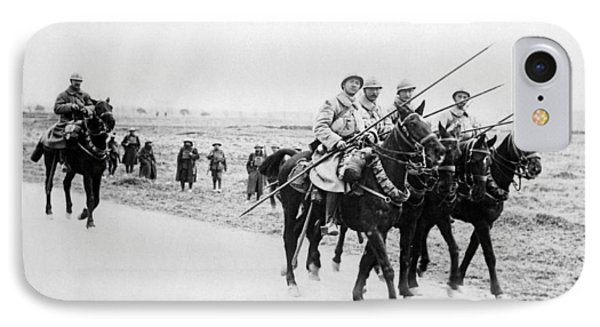 A French Cavalry Patrol IPhone Case by Underwood Archives