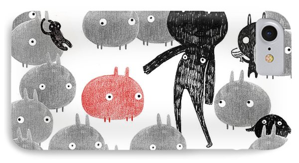 A Friendly Visit To The Bunnyland IPhone Case by Yoyo Zhao