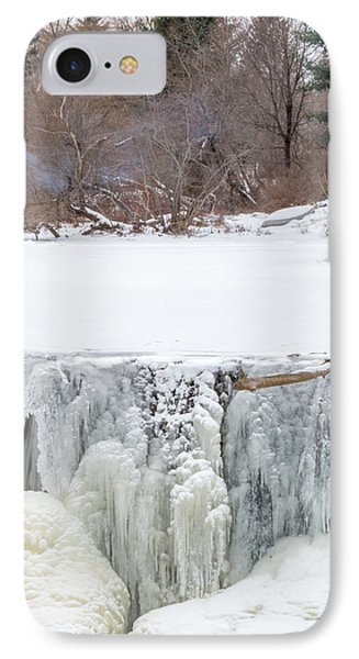 A Frozen Waterfall Barbecue   IPhone Case by Stroudwater Falls Photography