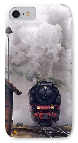 A Full Head Of Steam IPhone Case by Michael Pickett