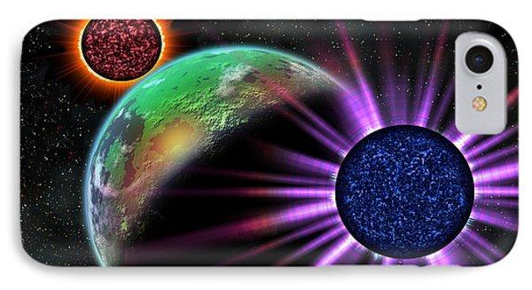 A Galaxy Far Far Away Phone Case by Camille Lopez