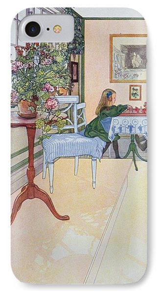 A Game Of Chess IPhone Case by Carl Larsson