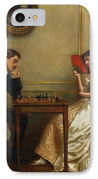 A Game Of Chess IPhone Case by George Goodwin Kilburne