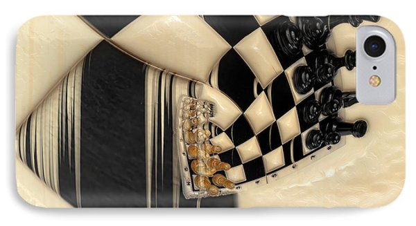 A Game Of Chess IPhone Case by Liane Wright