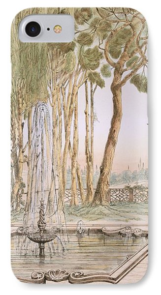 A Garden In Turkey, 19th Century IPhone Case by A. de Beaumont