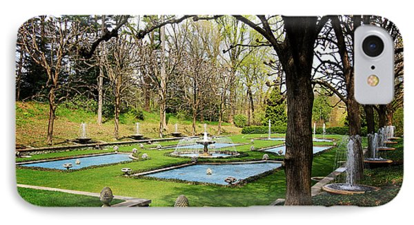 IPhone Case featuring the photograph A Garden Of Fountains by Trina  Ansel