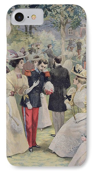 A Garden Party At The Elysee Phone Case by Fortune Louis Meaulle