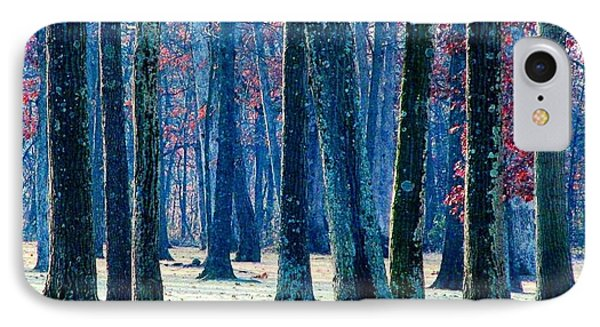 A Gathering Of Trees IPhone Case by Angela Davies