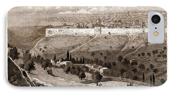 A General View Of The City Of Jerusalem IPhone Case