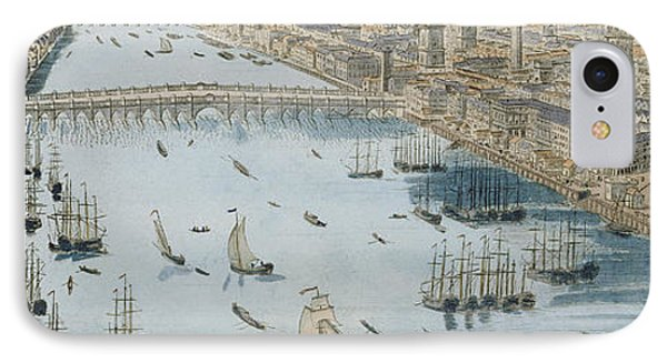 A General View Of The City Of London And The River Thames IPhone Case by Thomas Bowles