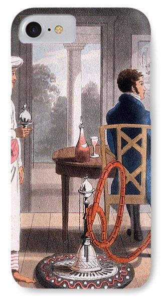 A Gentleman With His Hookah Burdah, Or IPhone Case by Charles D'Oyly