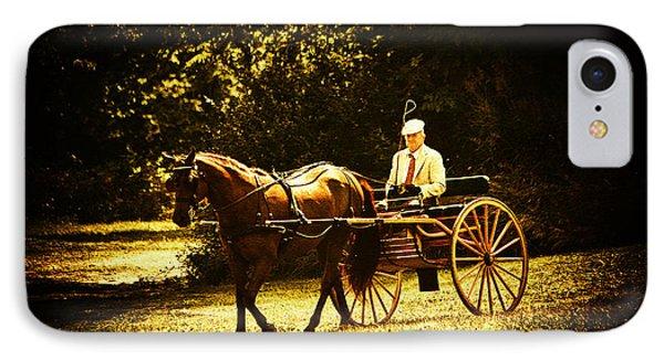 A Gentlemans Ride Phone Case by Karol Livote