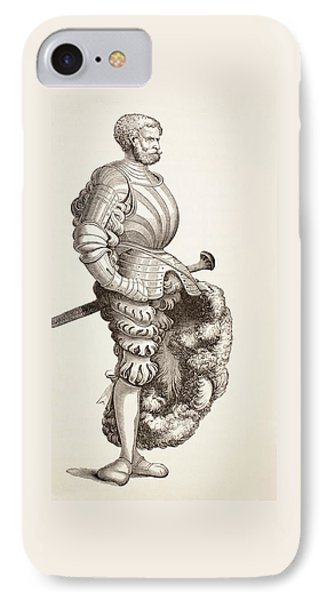 A German Knight, From Military And Religious Life In The Middle Ages By Paul Lacroix IPhone Case by French School