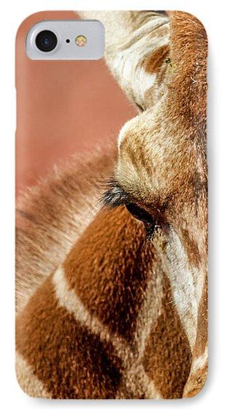 A Giraffe IPhone Case by Ernie Echols