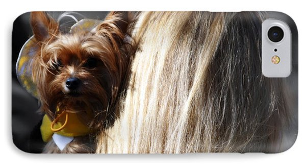 A Girl And Her Dog Phone Case by Steven Digman
