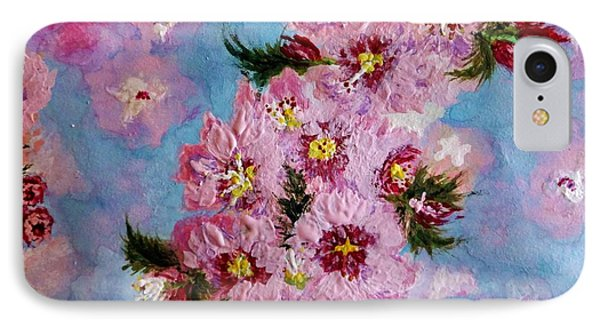 IPhone Case featuring the painting A Glimpse Of Spring... by Cristina Mihailescu