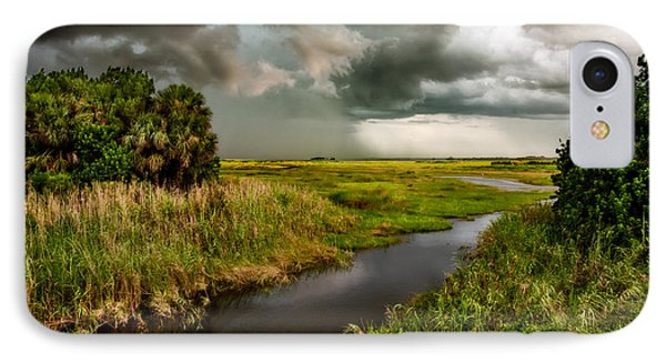 A Glow On The Marsh Phone Case by Christopher Holmes