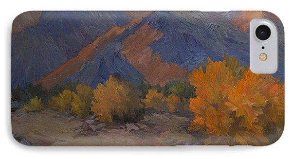 Desert Sunset iPhone 7 Case - A Golden Sky by Diane McClary