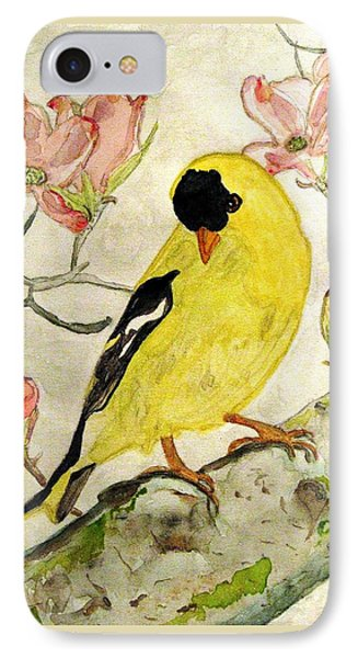 A Goldfinch Spring IPhone Case by Angela Davies