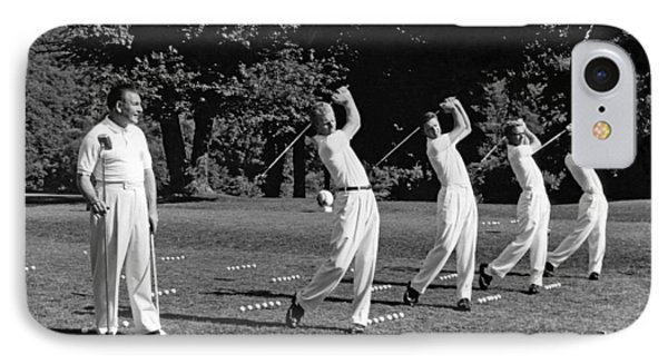 A Golf Driving Demonstration. IPhone Case