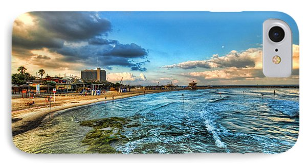IPhone Case featuring the photograph a good morning from Hilton's beach by Ron Shoshani