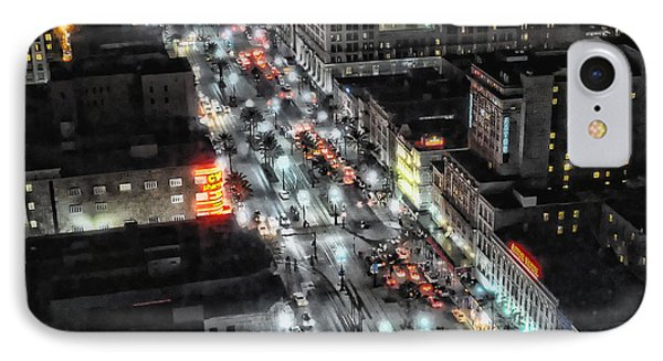 A Gothic Night In New Orleans On Canal Street IPhone Case by Kathleen K Parker