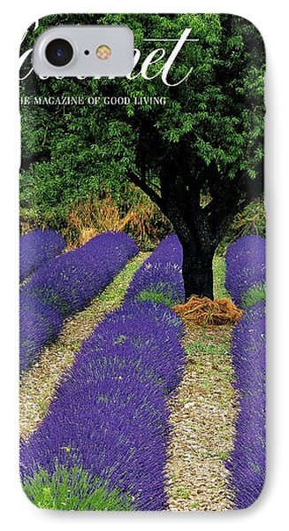 A Gourmet Cover Of A Lavender Field IPhone Case by Julian Nieman