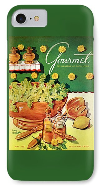 A Gourmet Cover Of Dandelion Salad IPhone Case by Henry Stahlhut